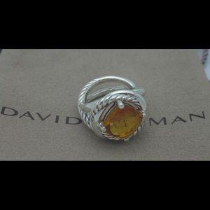 David Yurman Infinity Ring 11mm x 11mm CITRINE !!!
